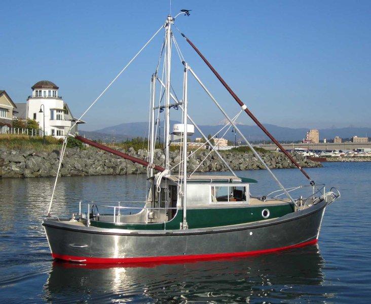 22 timbercoast bartender boats for Garden design trawler boat